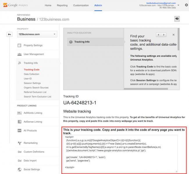 גוגל אנליטיקס שלב4