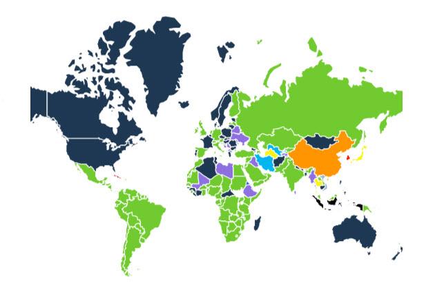 שימוש וואטסאפ בעולם