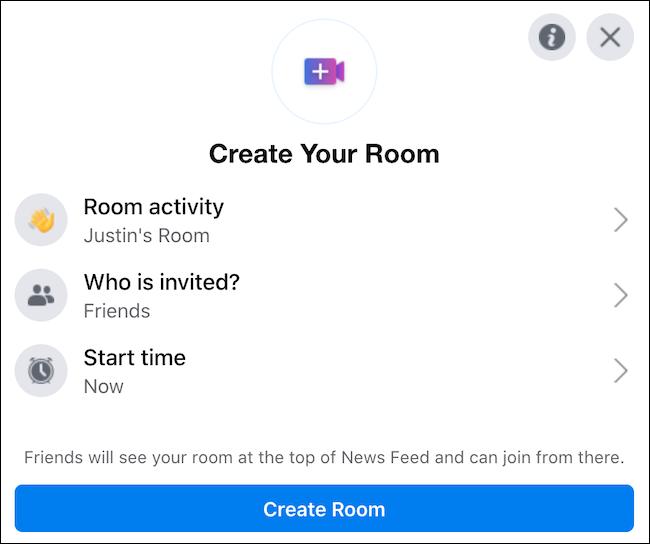 הקמה של חדר צפייה בפייסבוק
